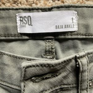 RSQ Jeans - ripped navy green jeans
